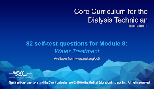 Module 8 - Water Treatment Quiz