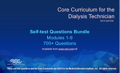 Core Curriculum for the Dialysis Technician Quiz Bundle