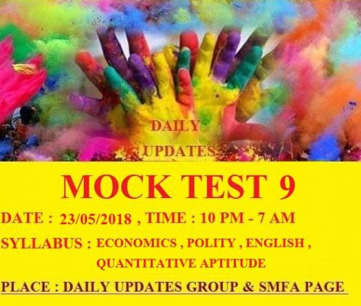 Daily Updates Mock Test 9