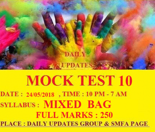Daily Updates Mock Test 10
