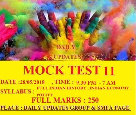 Daily Updates Mock Test 11