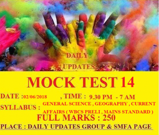 Daily Updates Mock Test 14