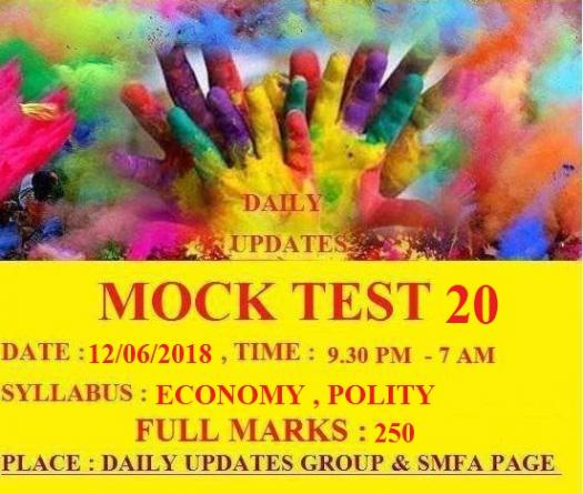 Daily Updates Mock Test 20
