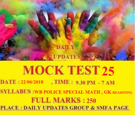 Daily Updates Mock Test 25