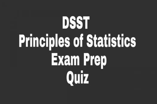 DSST Principles Of Statistics Exam Prep