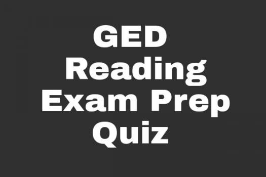 GED Reading Exam Prep