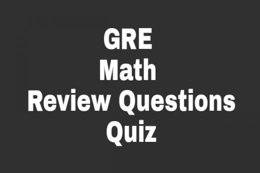 GRE Math Review Questions