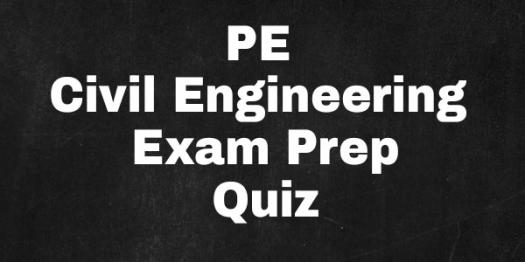 PE Civil Engineering Exam Prep