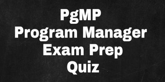 Pgmp Program Manager Exam Prep