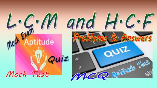 Shortcut Of Lcm And Hcf Quiz