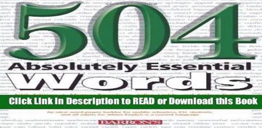 Book Quiz: 504 Absolutely Essential Words! Trivia