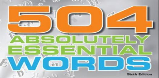 Advanced Level: 504 Absolutely Essential Words! Trivia Quiz