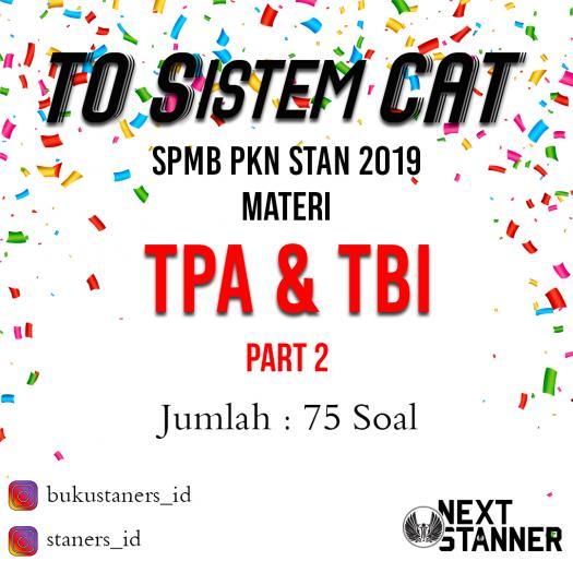 To Sistem Cat Tpa Tbi 2