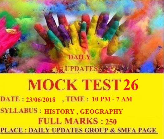 Daily Updates Mock Test 26