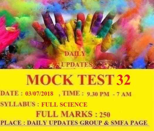 Daily Updates Mock Test 32