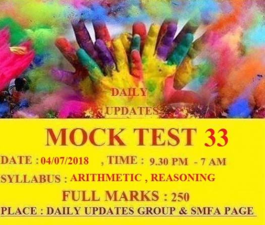 Daily Updates Mock Test 33