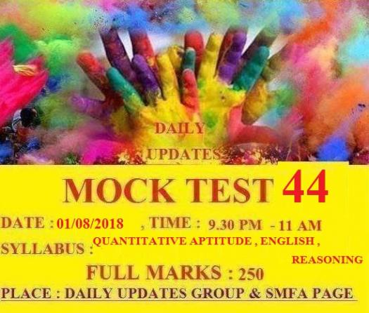 Daily Updates Mock Test 44