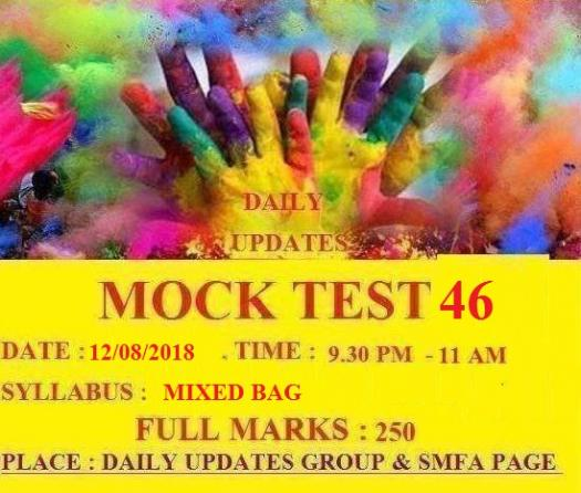 DAILY UPDATES MOCK TEST 46