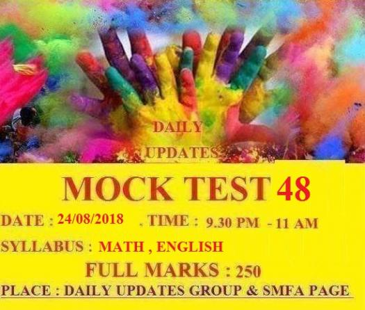 Daily Updates Mock Test 48