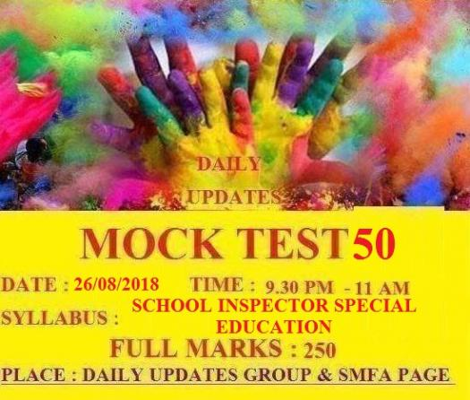 Daily Updates Mock Test 50