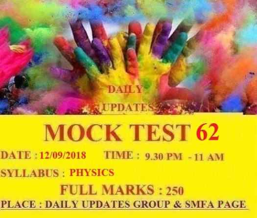 Daily Updates Mock Test 62