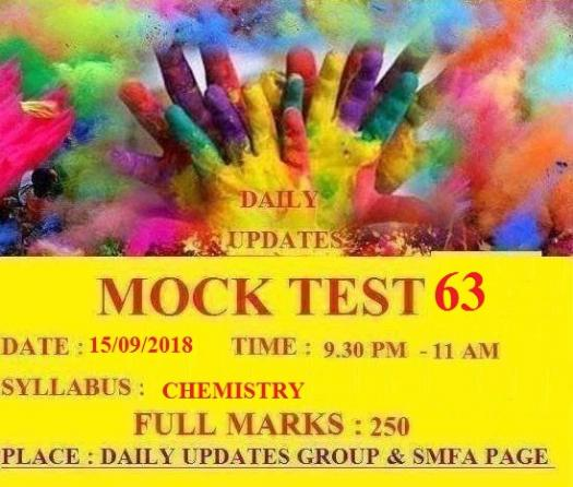 Daily Updates Mock Test 63