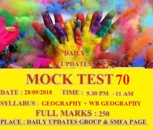 Daily  Updates  Mock  Test  70