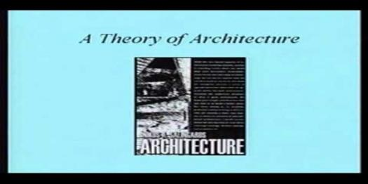 Quiz: A Theory Of Architecture By Nikos Salingaros