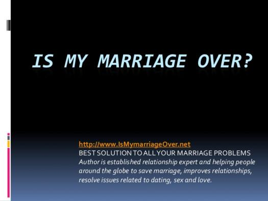 Is My Marriage Over? - ProProfs Quiz