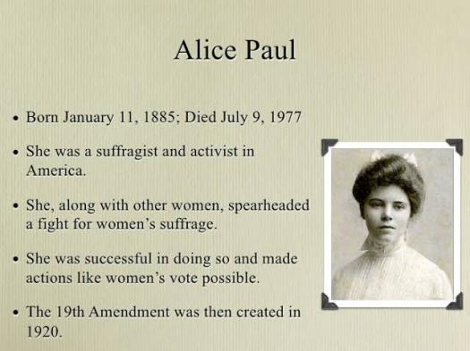 Early Life And Career Of Alice Paul! Trivia Questions Quiz