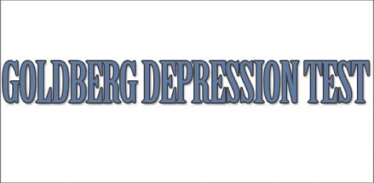 A Goldberg Depression Test-quiz.
