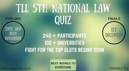 Tll 5th National Law Quiz Prelims Round 2