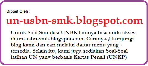 Soal Simulasi Unbk Bahasa Indonesia Smk Tkp Tahun 2018/2019
