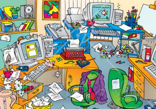 Messy Room - Adjectives And Prepositions