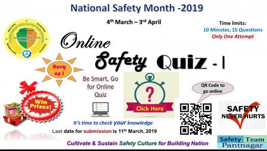 National Safety Month Online Quiz - I