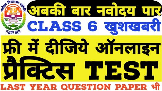 Navodaya Vidyalaya Class 6 Free Online Test