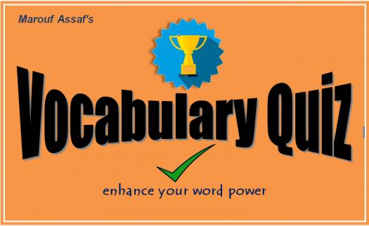 Vocabulary Quiz #01