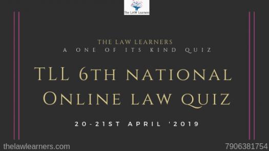 Tll 6th National Law Quiz Finals 2019