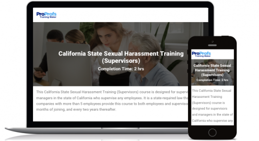 California Online Supervisors Sexual Harassment Training Course