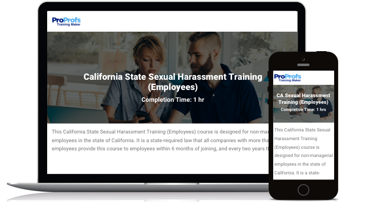 California Online Employee Sexual Harassment Training Course
