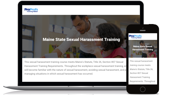 Maine Online Sexual Harassment Training Course