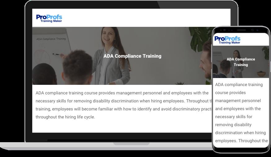 ADA Compliance Training