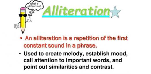 Alliteration Quiz