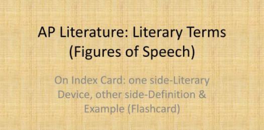 AP Literary Terms Quiz
