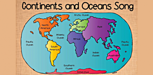 photo relating to Continents and Oceans Quiz Printable named Figure out The Continents And Oceans! Map Trivia Quiz