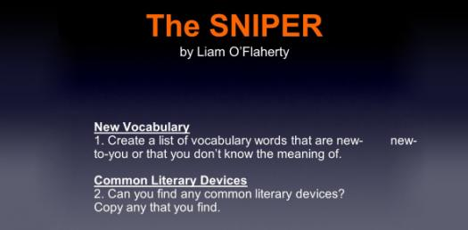 The Sniper Story By Liam Oflaherty! Trivia Questions Quiz