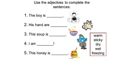 Identifying The Adjectives! Trivia Test Quiz