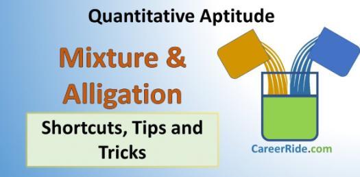 Alligation Or Mixture: Quantitative Aptitude Test! Trivia Quiz