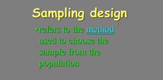 Trivia Questions On Sampling Design