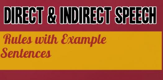 A Short Quiz: Direct And Indirect Speech